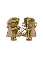 Paris Texas Snake Print Sandals - Giallo