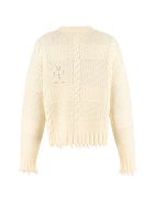 Alanui Crew-neck Wool Sweater - panna