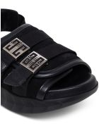 Givenchy Marshmallow Black Suede Sandals - Black