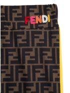Fendi Lycra Ff Leggings - Brown
