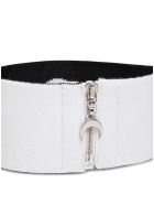 Marine Serre Moon Collar In Balck Stretch Knit - White