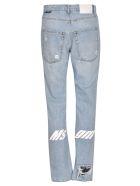 MSGM Slim Fit Distressed Denim Jeans - Blue