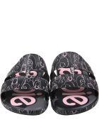 Melissa Black Sandals For Girl With Barbie - Black