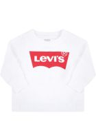Levi's White T-shirt For Baby Kids With Logo - White