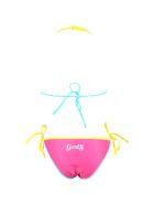 GCDS Mini Fuchsia Bikini For Girl With White Logo - Fuchsia