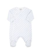 Givenchy White Babygrow For Baby Boy With Logos - Light Blue