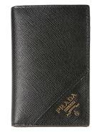 Prada Logo Plaque Long Wallet - Black