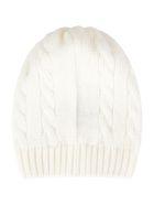 Little Bear Ivory Hat For Babykid - White