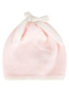 Little Bear Multicolr Hat For Baby Girl - Pink
