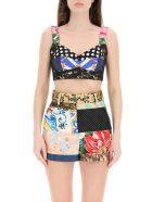 Dolce & Gabbana Patchwork Bustier Top - Multicolore