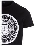 Balmain 'coin Flock' T-shirt - Black