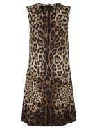 Dolce & Gabbana Rear Zip Sleeveless Animalier Dress - Leopardato