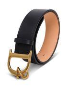 Dsquared2 Black Leather Belt With Logo Buckle - Black