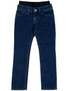 Emporio Armani Blue Denim Jeans With Elastic Waist - Blu