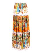 Alessandro Enriquez 'vegan Love' Viscose Skirt - Multicolor