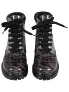 Fendi Brown Boots For Kids With Logo Vertigo - Brown