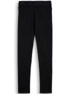 Moncler Black Cotton Leggings With Logo - Black