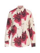 Paul Smith Flowers Printing Shirt W/lapel On Wrists - Rosso