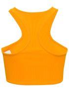 Off-White Orange Crop Top With Logo Print - Orange