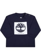Timberland Blue T-shirt For Baby Boy With Iconic Tree - Blue
