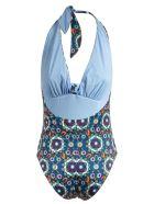 La DoubleJ Bow Bather Swimsuit - Blue/Orange