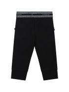 Givenchy Black Leggings For Baby Girl With Logo - Black