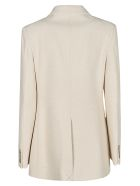 Victoria Beckham Patterned Classic Coat - Natural