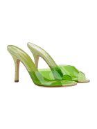 Paris Texas Croc-effect Leather And Pvc Sandals - Verde