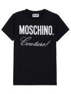Moschino Black Cotton T-shirt With Logo Print - Black