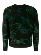 Saint Laurent All-over Print Sweatshirt - Black/Green