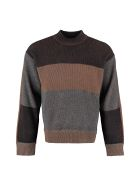 Z Zegna Wool-blend Crew-neck Sweater - Multicolor