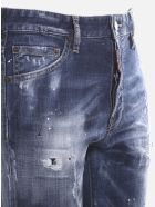 Dsquared2 Distressed-effect Stretch Cotton Skinny Jeans - Blue