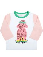 Stella McCartney Kids Multicolor T-shirt For Baby Girl With Dog - Multicolor