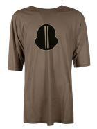 Rick Owens Centre Logo Print T-shirt - Dust