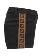 Fendi Black Short For Girl With Iconic Double Ff - Gme Black