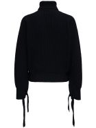 Mauro Grifoni Black Wool Sweater With Bows - Black