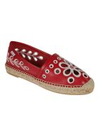 RED Valentino Floral Perforated Espadrillas - Cherry