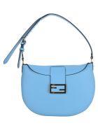 Fendi Small Croissant Hobo Bag - CYBER BLUE
