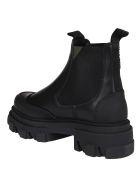 Ganni Black Leather Boots - Nero