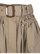 Alexander McQueen Beige Parka Skirt With Belt And Drawstring - Beige