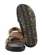 Marni Criss-cross Fussbett Calfskin Sandal - Brown