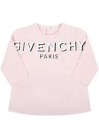 Givenchy Pink T-shirt For Baby Girl With Logo - Pink