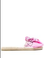 Manebi Woman Flat Sandals With Knot - Bandana - Pink - Rose & blush