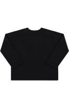 MSGM Black T-shirt For Babykids With Black Logo - Black