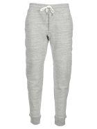 Tom Ford Cotton Fleece Track Trousers - GREY MELANGE