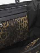 Dolce & Gabbana Sicily Bag In Nylon With All-over Leo Print - Leopard