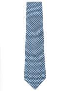 Eddy Monetti Paper Boat Print Neck Tie - Blue/White