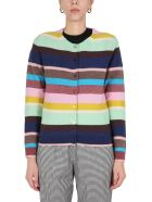 PS by Paul Smith Multicolour Striped Cardigan - Multicolor