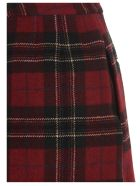 RED Valentino Tartan Skirt - Rosso