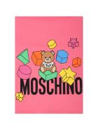 Moschino Fuchsia Blanket For Babygirl With Teddy Bears - Pink